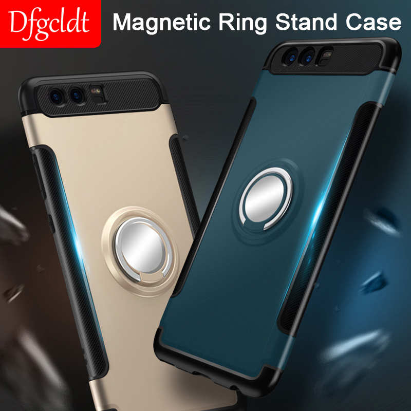 Magnetic Ring Stand Case for Huawei Honor 7X 8 8X 9 V8 V10 Play Youth Pro Full Cover Case for Mate 10 20 X Pro Lite P Smart Plus image