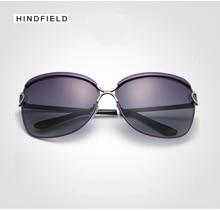 Hindfleld Polarized sunglasses women Retro Style Metal Frame Sun Glasses Famous Lady Brand Designer goggles Oculos Feminino