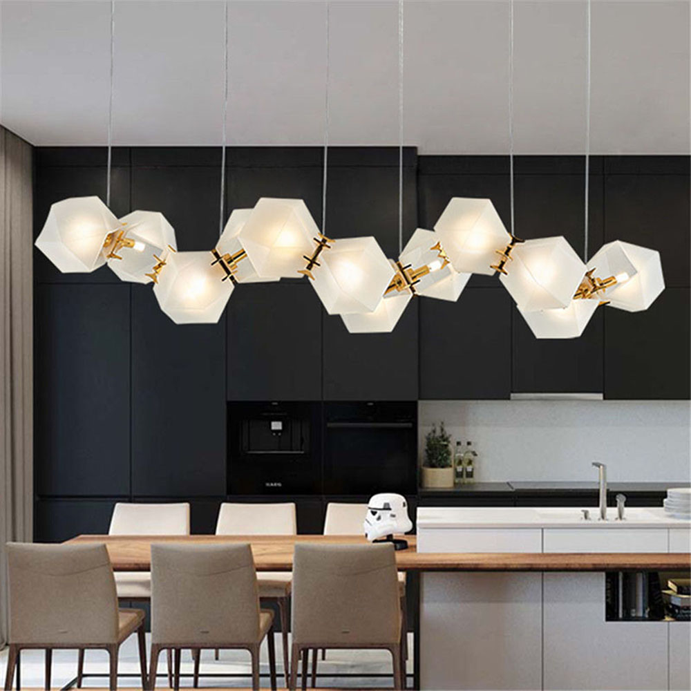 inspiring mid century hanging light bedroom | Modern Welles Glass Pendant Light Long Mid Century ...