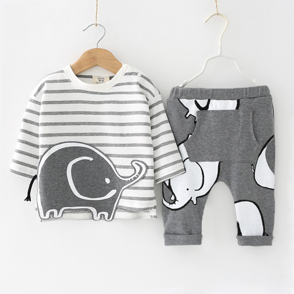LZH Newborn Clothes 2018 Autumn Winter Baby Boys Clothes Set T-shirt+Pants 2pcs Outfits Suit Kids Baby Girls Set Infant Clothing new baby boy clothes fashion cotton short sleeved letter t shirt pants baby boys clothing set infant 2pcs suit baby girl clothes