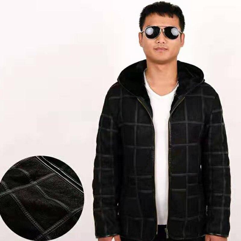 2020 new warm men s fur coat plus hat men s 100 real sheepskin coat men 2020 new warm men's fur coat plus hat men's 100% real sheepskin coat, men's suit, leather jacket, thick, size custom