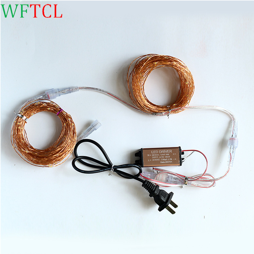 Christmas decorations for home LED Fairy String Lights 10M 100LEDs Starry Lights with power LED Copper Wire Fairy Moon Lights