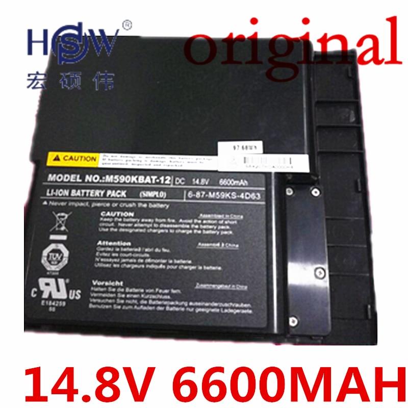 HSW  Battery For Clevo M59 M59k M590 M59ke Np5950 Np5960 M590kbat-12 6-87-m59ks-4d63 6-87-m59ks-4k62 6-87-m59ks-4k62 original rechargeable clevo w370bat 8 li ion battery 6 87 w370s 4271 6 87 w37ss 427 k590s laptop battery 14 8v 5200mah 76 96wh