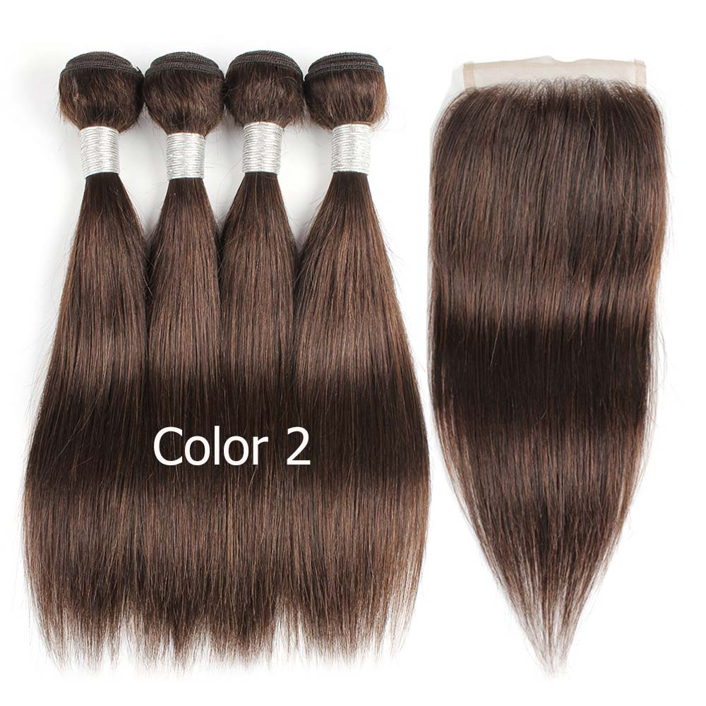 HTB1wW4XPjTpK1RjSZKPq6y3UpXaP Bobbi Collection 4/6 Bundle with Closure 50g/pc Brazilian Ombre Honey Blonde Hair with Lace Closure Straight Remy Human Hair