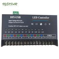 USB DIY LED RGB RGBW Controller 12 Channel Programmable Controller 5A*12CH;12Channels LED Controller for 3528&5050 led strip