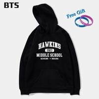 BTS Stranger Things Oversized Hoodie Men Casual Fashion Homme Plus Size Tracksuit Winter Hoodies Men Sweatshirts