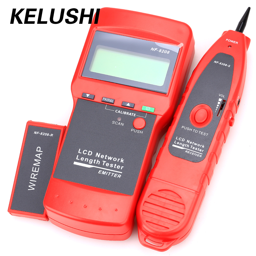 NF-8208 Original RJ45 Network Cable tester Wire Tracker Diagnose Tone Tracer Ethernet Multipurpose LCD Display