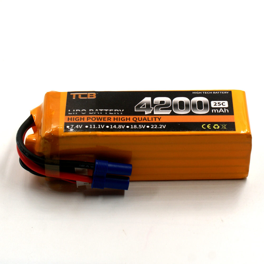 TCB RC Drone Lipo battery 22.2v 4200mAh 25C 6s FOR RC airplane helicopter car boat AKKU Batteriafree shipping blue fox vibrax uv bfu2 obyu