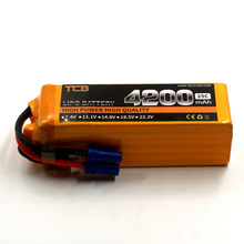 TCB RC Drone Lipo battery 22.2v 4200mAh 25C 6s FOR RC airplane helicopter car boat AKKU Batteriafree shipping