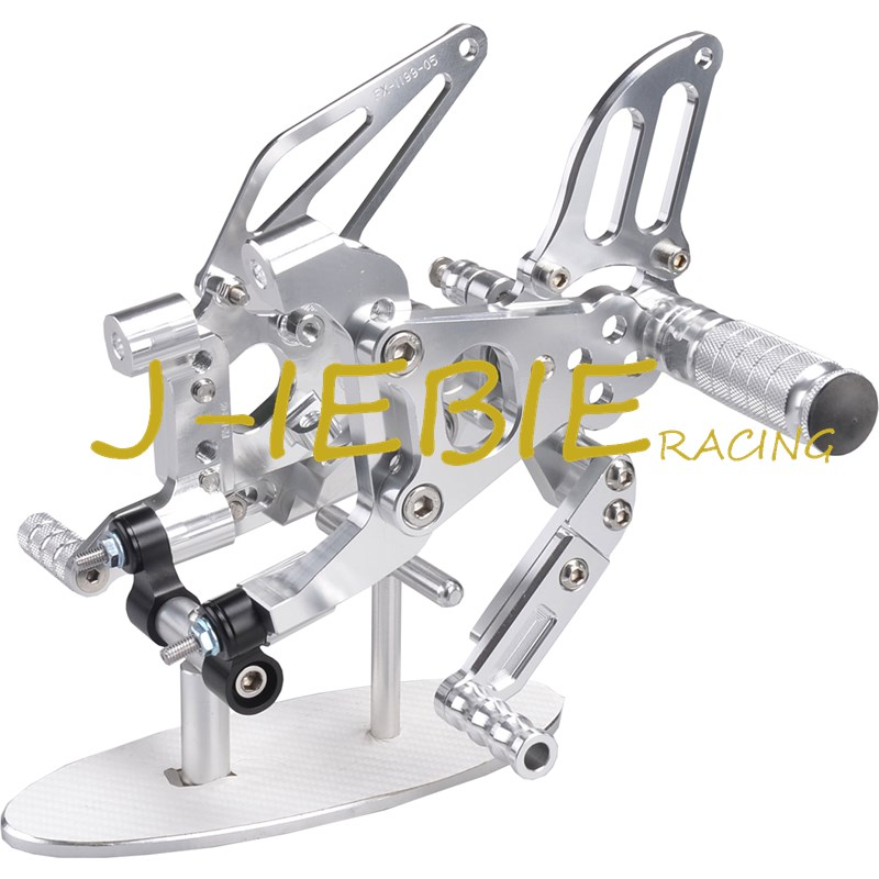 CNC Racing Rearset Adjustable Rear Sets Foot pegs Fit For Ducati 899 959 1199 1299 Panigale 2012 2013 2014 2015 2016 SILVER cnc racing rearset adjustable rear sets foot pegs fit for honda cbr600 cbr 600 f4 f4i 1999 2000 2001 2002 2003 2004 2005 2006