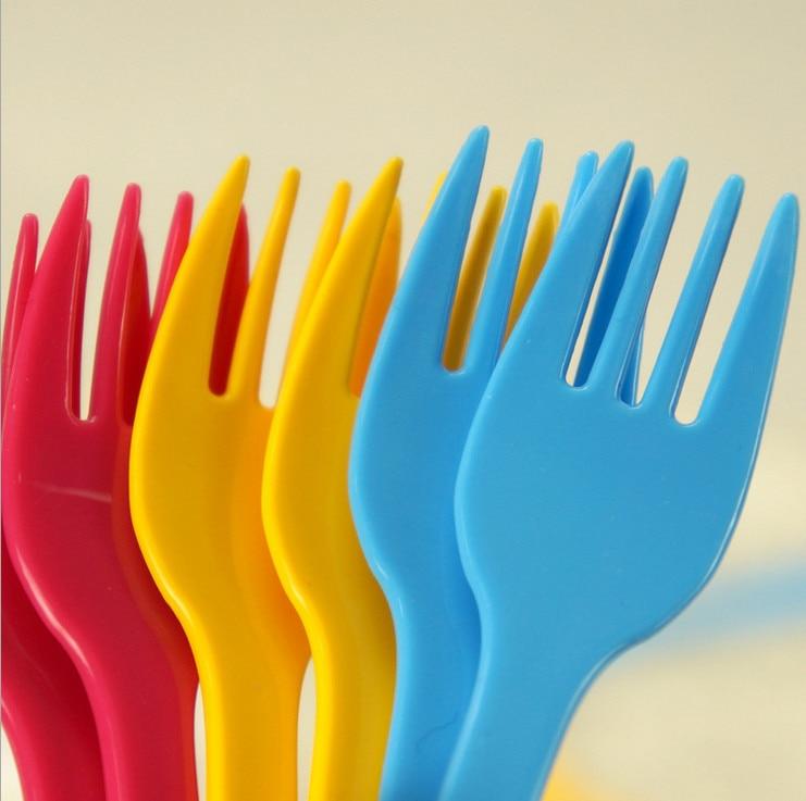 2015 Professional Eco friendly plastic fruit fork birthday ...