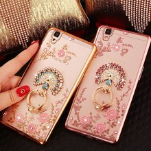 Secret Garden Flowers Plating Diamond Electroplating Cover with Rings For Xiaomi 6X Redmi Note5Pro(China)