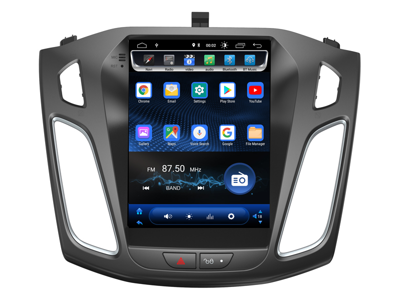 OTOJETA Android 8.1.0 vertical screen Car Multimedia tesla GPS NAVIGATION Radio player for Ford FOCUS 2012-2017 stereo head unit