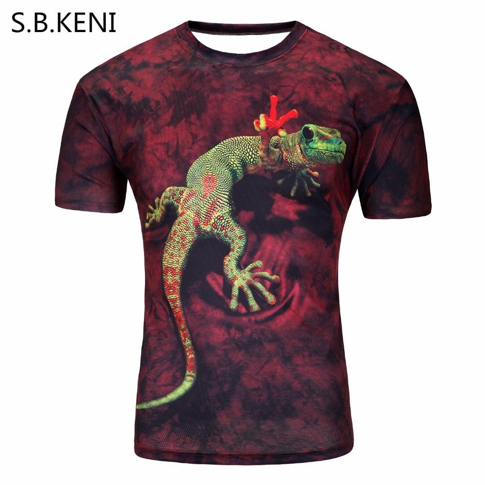 Men's 3D printing summer short sleeve t shirts