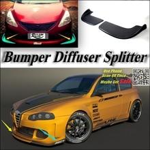 Автомобильный Разветвитель диффузор оперение бампера губ для Alfa Romeo 147/GTA AR тюнинг тела комплект/передний дефлектор плавник подбородка падение тела