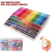120 160 Цвета безопасные нетоксичные масла Цветной карандаш Ляпис de Cor профессионалов художник Цвет карандаши для записи рисунок Art supplie