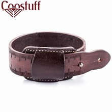 Fashion Genuine Leather Bracelet Men Women Punk Belt Bangle Cuff Wristband Gift