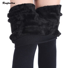 7197607f26183 Rooftrellen Autumn Winter Fashion Women s Plus Cashmere Tights High Quality  Knitted Velvet Tights Elastic Slim Warm