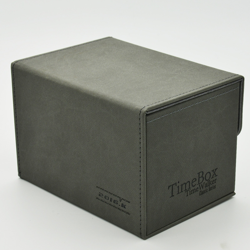US $19 99 |Time Walker Hand Made Genuine Leather EDH Cards Box FUN BOX PLUS  Double Cabinet Deck Case Hold 240 Cards for MGT/YGO/FOW/CFV-in Board Games