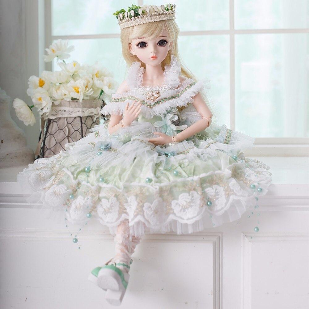 Fashin bjd 우아한 실리콘 reborn 인형 장난감 메이크업 가게 인형 수제 아름다움 장난감 소녀 생일 선물을위한 여러 관절!-에서인형부터 완구 & 취미 의  그룹 3