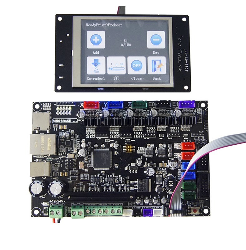 MKS base 3D printer 32bit PCB MKS SBASE V1.3 +MKS TFT32 3.2 LCD Touch DisplayMKS base 3D printer 32bit PCB MKS SBASE V1.3 +MKS TFT32 3.2 LCD Touch Display