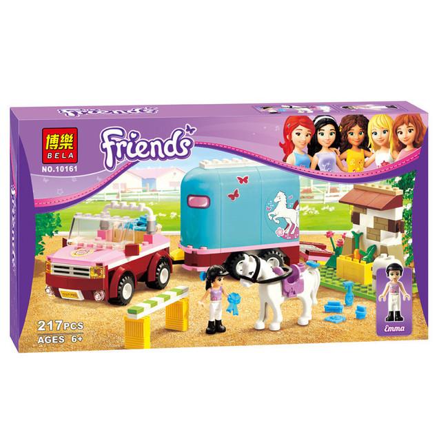 Diy crianças brinquedos presentes de natal blocos girlsfriends 10161 heartlake horse da emma blocos minifigs brinquedo presentes de natal para crianças