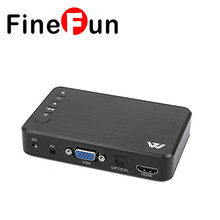 FineFun 1920X1080 H7 Media Mini Full HD 1080P Media HDD Car Player with HDMI VGA AV USB SD MMC Optical Output