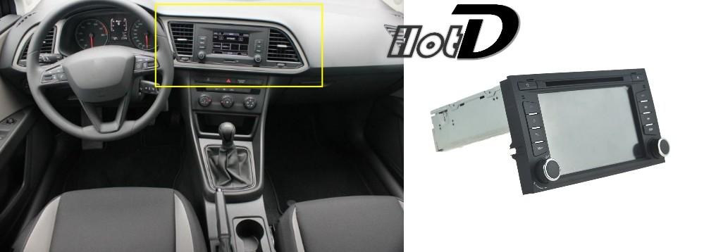 For SEAT LEON 2014 Car Multimedia TV DVD GPS Radio Original Style Navigation Android Advanced Navi 4