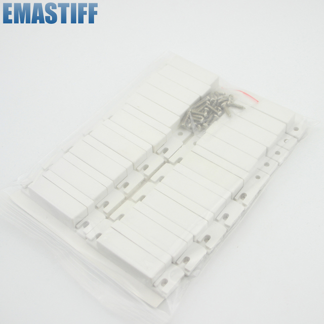 10 paar Wired Magnetische Tür Fenster Kontaktieren Magnetische Sensor für Alarmanlage W NO/NC Ausgang AT WDS02