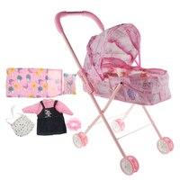 Baby Stroller Nursery Room Furniture Decor Kids Pretend Play Toy Children's Cart Toy Supermarket Trolley