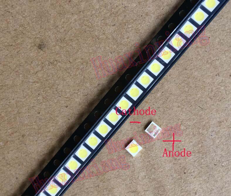 50PCS/Lot Everlight 1W 3030 3V SMD LED Cold White 250mA For TV Backlight LED 50pcs lot [50pieces lot] hd7406p dip14
