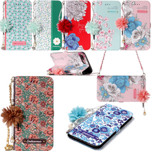 Strap Chain Leather Flip Wallet Phone Silicone Soft Case Cover Shell Stand for Samsung Galaxy A3 A5 2017 J330 J530 J730 EU Note8