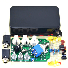DIY Classical Electronic Vintage Overdrive Guitar Effect Pedal KIT True Bypass and black 1590B enclosure