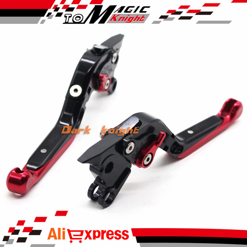 ФОТО For DUCATI 996/S/R 1999-2003, 998/S/R 2003-2004, ST4/S 1997-2005 Motorcycle CNC Folding Extendable Brake Clutch Levers Black+Red