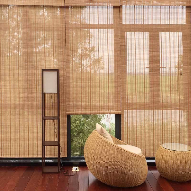Custom made bamboo curtain shutter curtain Roman blinds