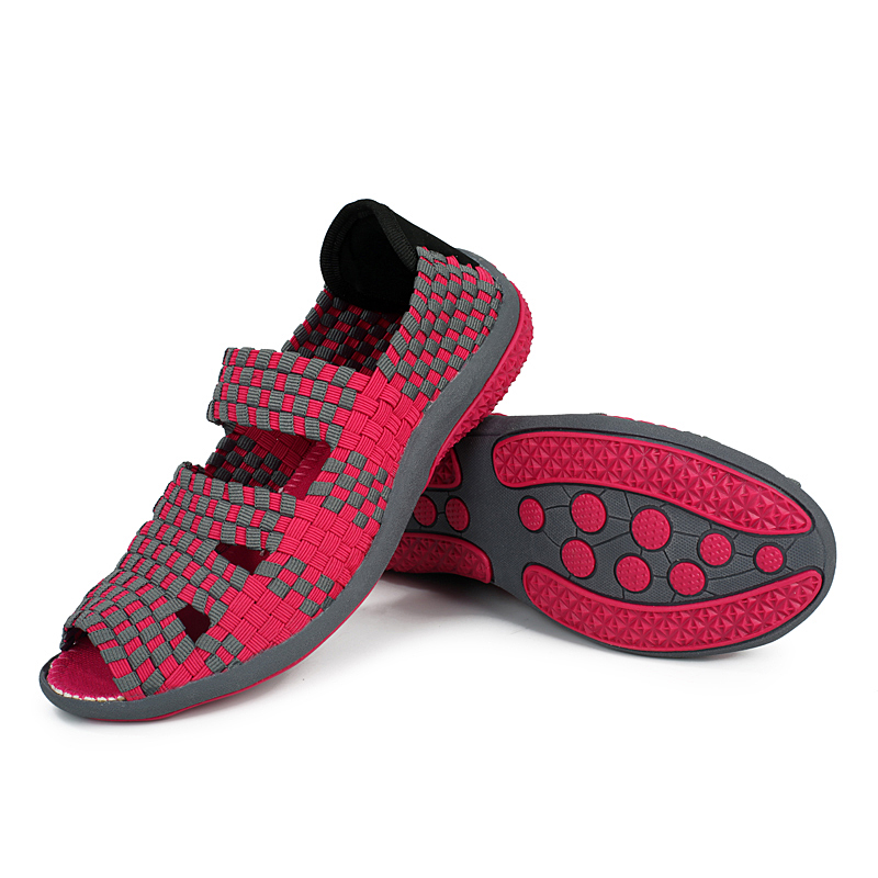EOFK Women Sandals Handmade Woven Flat Shoes Woman 2019 Summer Fashion Breathable Casual Slip On Colorful EOFK Women Sandals Handmade Woven Flat Shoes Woman 2019 Summer Fashion Breathable Casual Slip-On Colorful Female Footwear