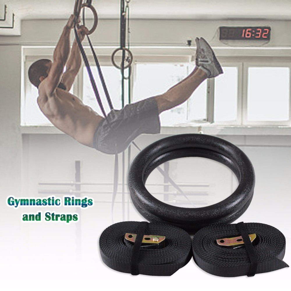 1 Pair Exercise Fitness Gymnastic Rings Gym Exercise Pull Ups Muscle Ups Home Fitness Gym Crossfit Strength Training wooden gymnastic rings exercise fitness for men gym exercise crossfit pull ups muscle gymnastics equipment