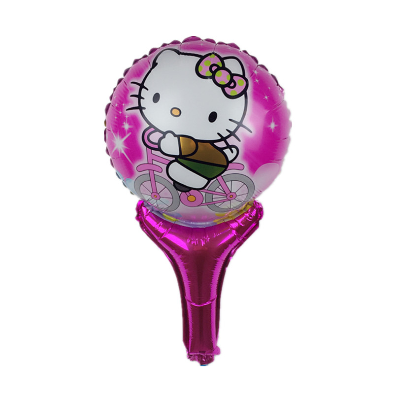 XXPWJ 1pcs Free shipping new hand - held stick kt cat aluminum foil balloon chil