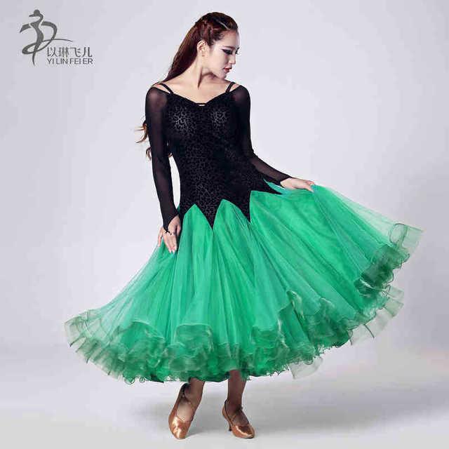 0ab907d2bddb5d 2017 Nieuwe Led Kostuum Koop Ballroom Dans Rokken Nieuwste Ontwerp Vrouw  Moderne Waltz Tango Jurk