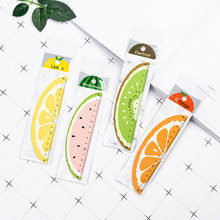 1X Cute Cartoon fruit ruler Office Painting Supplies  Student kids gift learning Stationery