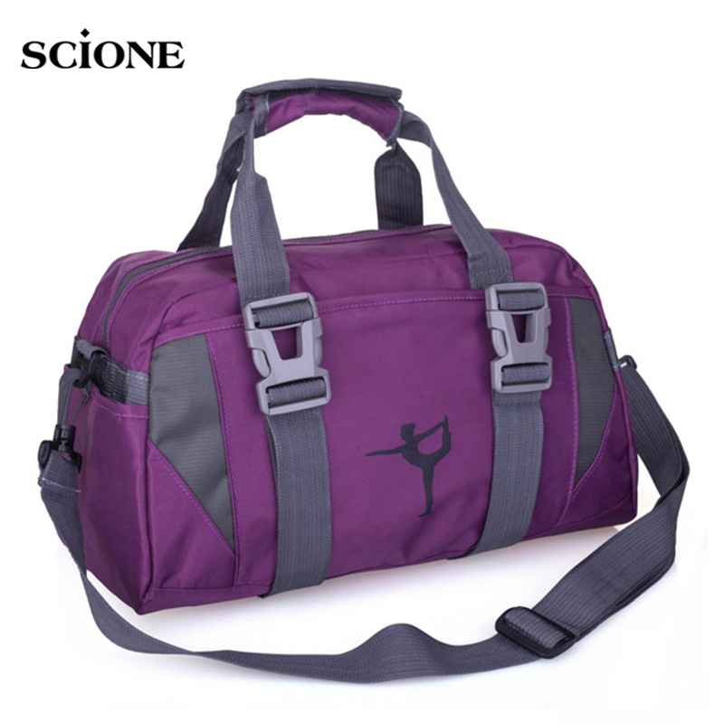 0b9ab21701e8 Yoga Mat Bag Fitness Gym Bags Sports Nylon Training Shoulder Sac De Sport  For Women Men Traveling Duffel Gymtas Sporttas XA55WA-in Gym Bags from  Sports ...