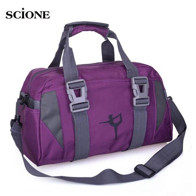 2cf69f891952 Yoga Mat Bag Fitness Gym Bags Sports Nylon Training Shoulder Sac De Sport  For Women Men