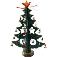 Christmas Tree DIY Wooden Table Decoration Home Ornaments 21CM