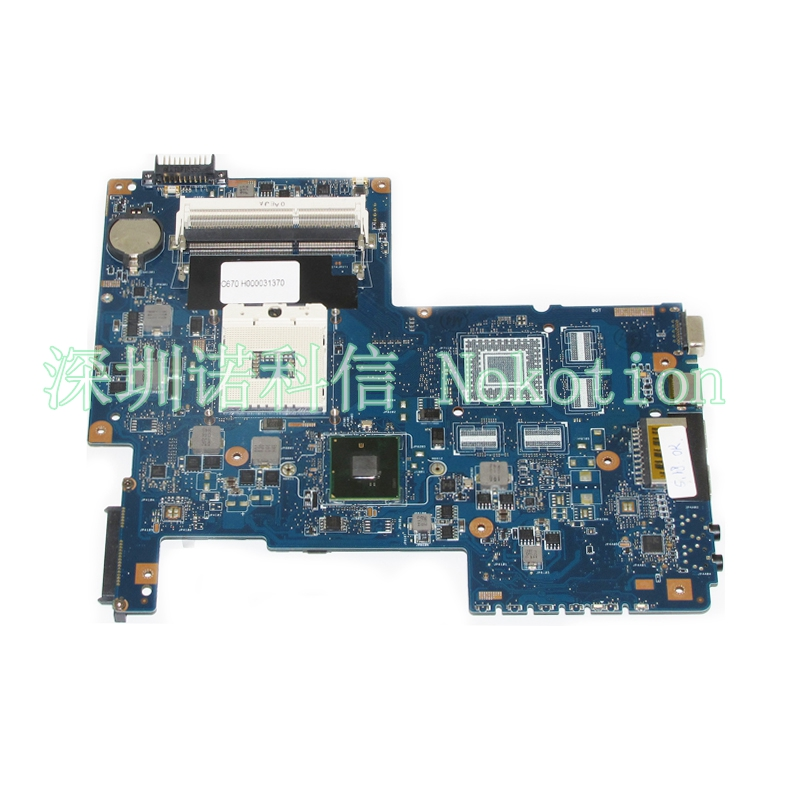 NOKOTION H000031370 Main Board For Toshiba Satellite C670 Laptop Motherboard 08N1-0NC0J00 HM55 DDR3 GMA HD h000042190 main board for toshiba satellite c875d l875d laptop motherboard em1200 cpu ddr3
