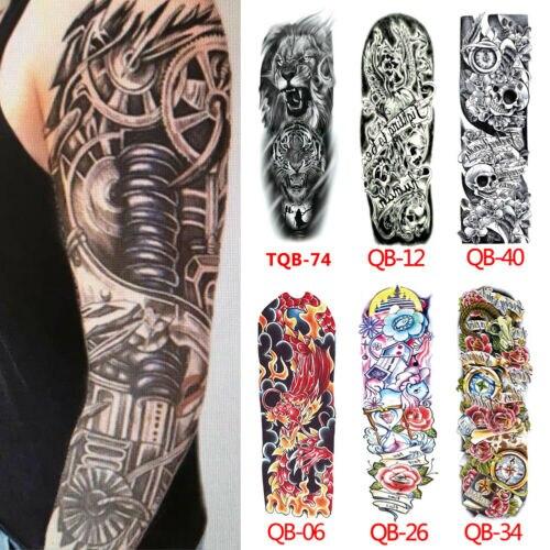 Hot Sales Full Arm Temporary Tattoo Sticker Waterproof Fake Sleeve Flash Tattoo Men Woman