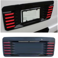EXTERIOR LED LIGHTS REAR AUTO LICENSE BRAKE LIGHTS REAR LAMPS PLATE COVER FIT FOR HIACE 200 2005 2016 LED LICENSE PLATE COVER