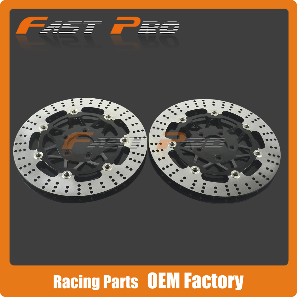1 Pair Front Floating Brake Disc Rotor For KAWASAKI KR250 ZXR250 ZRX400 ZZ-R400 ZR550 ZX6R ZZR600 ZR7S ZR750 ZX900 Z1000 ZX12R  new motorcycle front rotor brake disc for kawasaki zr 7 zr 7s zr750 zzr600 z750s gtr1000 zg1000 z1000 zr1000 gpz1100 non abs