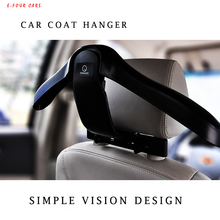 E-FOUR Hanger for Car Headrest Hook Suit Jacket Clothes Keep Slip Vehicle Holder High Class Tidying Organizer Accessories in