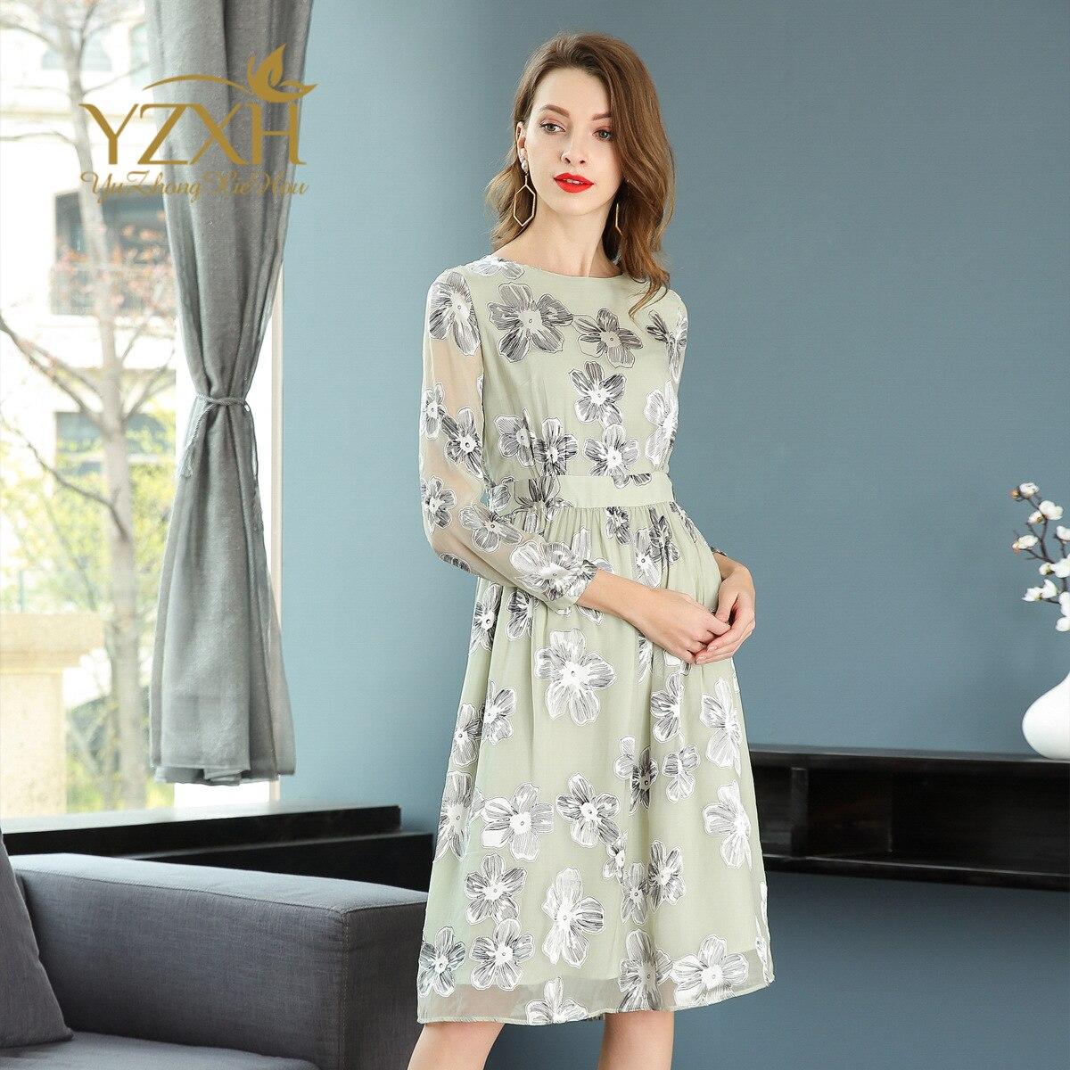 Здесь продается  Top quality print floral dress new 2018 spring summer dress high end women brand runway A line swing dress  Одежда и аксессуары