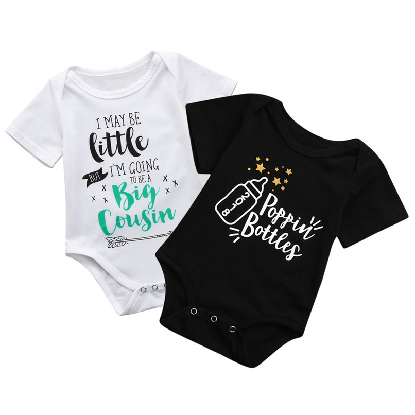 6b677fe111e Summer Newborn Baby Clothes Infant Baby Letter Printed Short Sleeve  Jumpsuit Romper Clothes Baby Romper baby